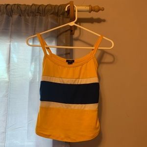 Yellow and blue tank top